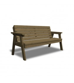 2 SEATER THISTLE BENCH WITH BACK Brown