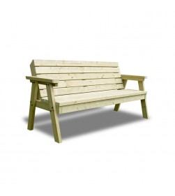 3 SEATER THISTLE BENCH WITH BACK GREEN