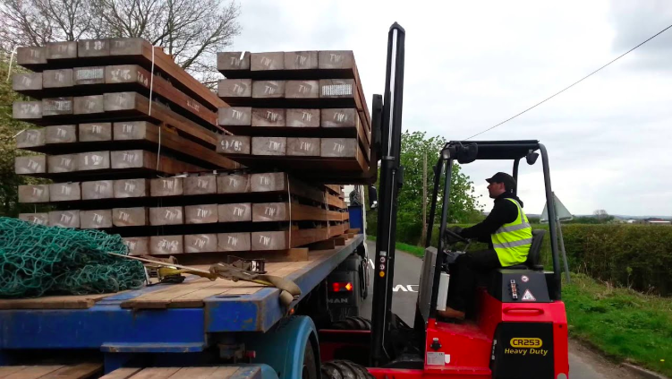 Forklift delivery - The Luxury Wood Company